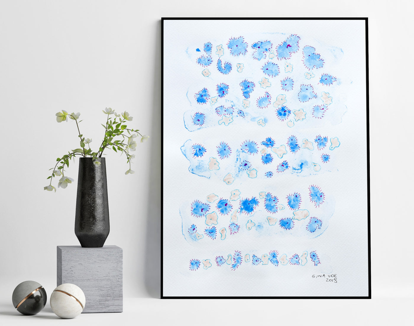 Abstract watercolour art for sale