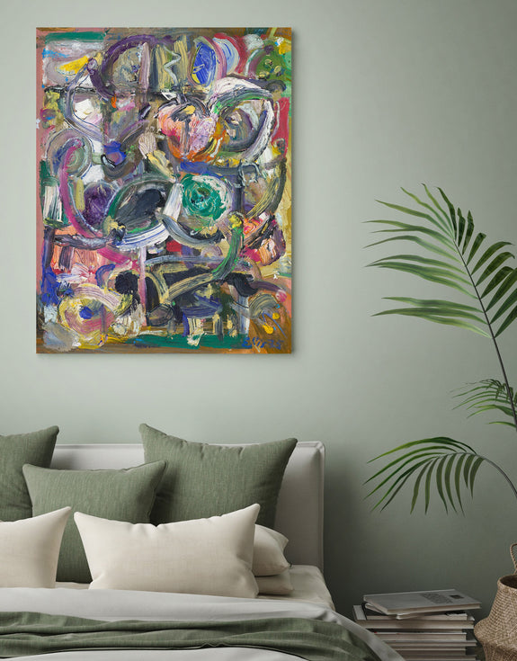 Abstract art print on canvas