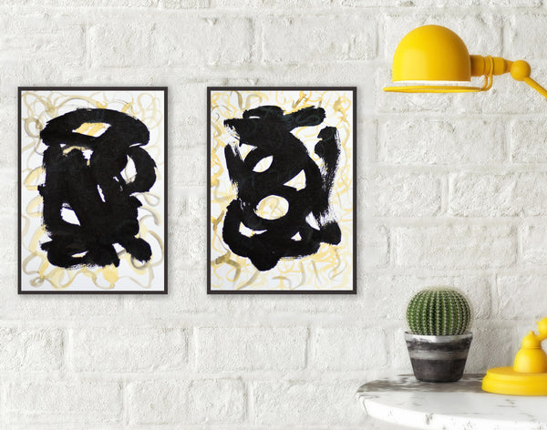 Set of two abstract paintings - buy online