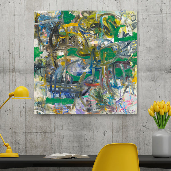 Affordable abstract art print on canvas