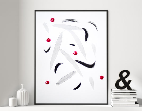 Minimalist abstract ink painting on paper for sale