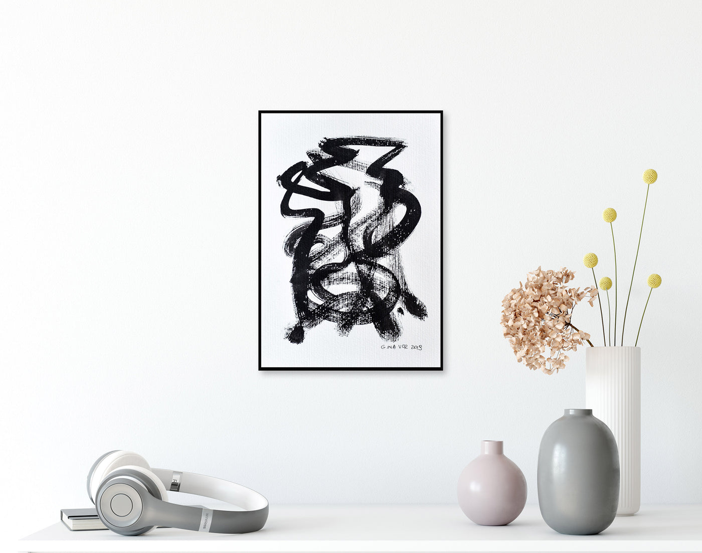 Abstract ink art for sale online