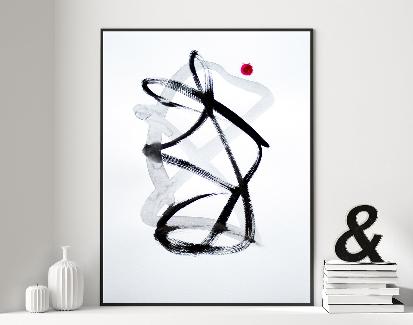 Abstract ink painting on paper for sale