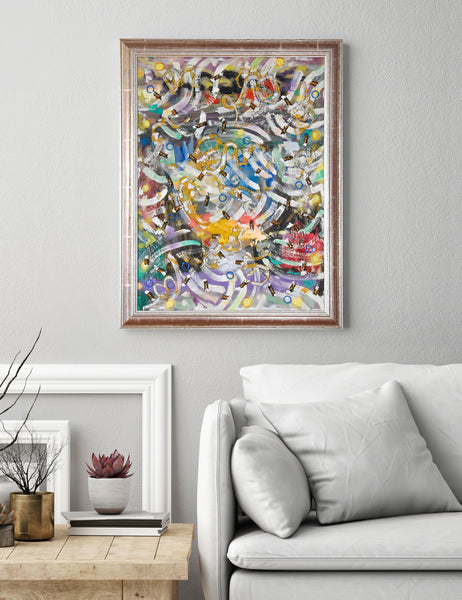 colourful abstract painting for sale