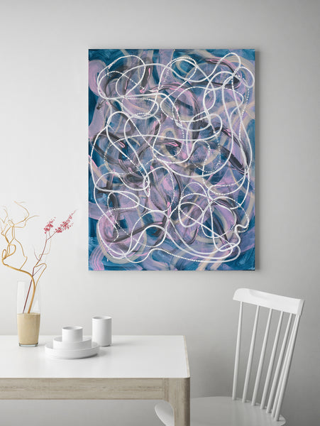 Original colourful abstract painting for sale