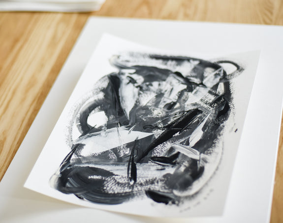 Abstract expressionism art on paper