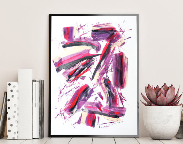 Affordable abstract painting on paper - original art for sale online