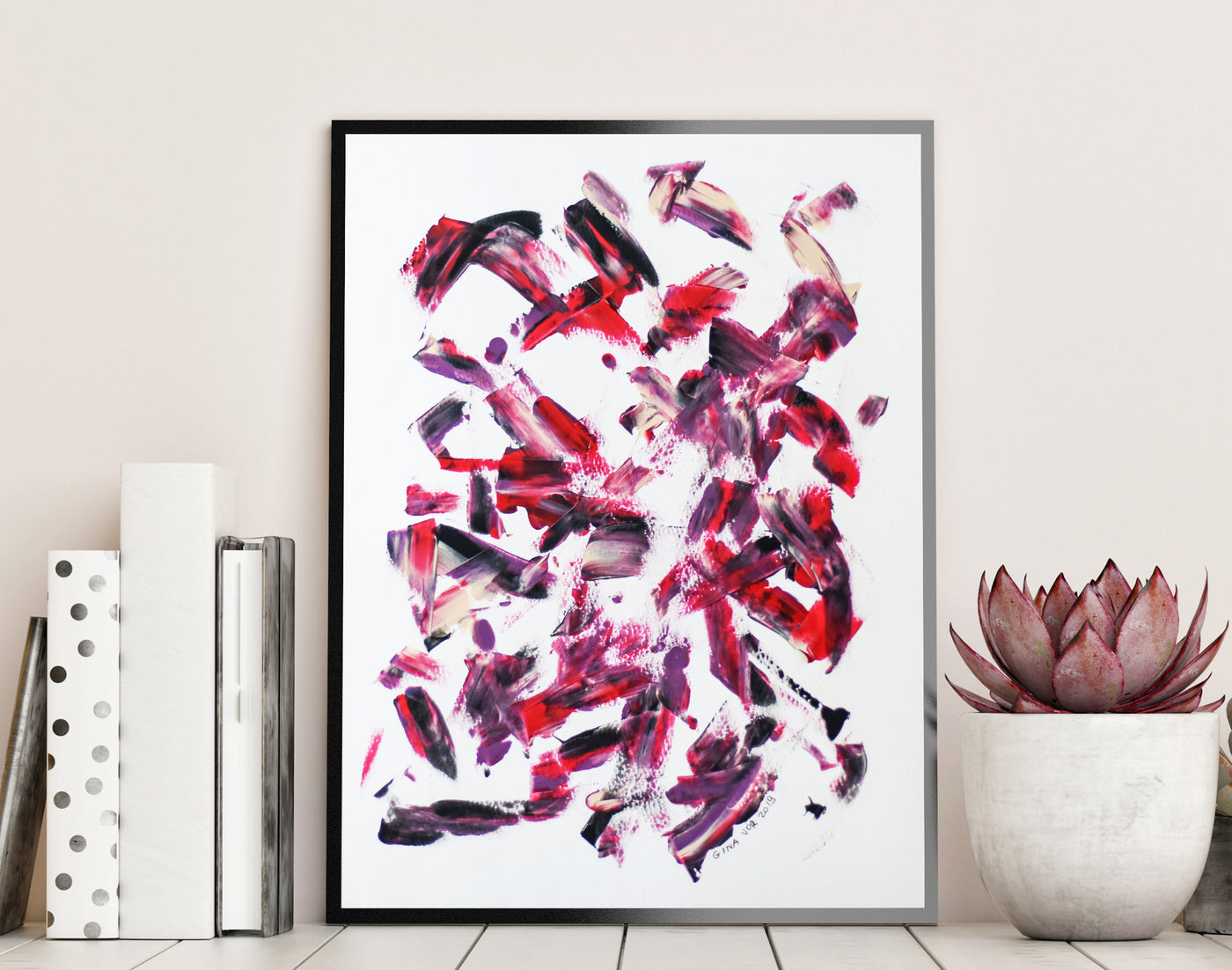 Abstract art - original painting on paper