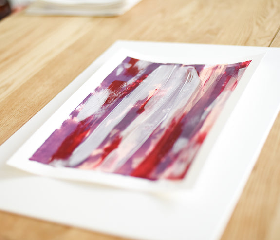 Abstract Art Painting on Paper