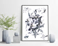 affordable black and white abstract painting for sale