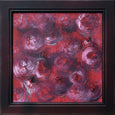 Burgundy abstract expressionism painting