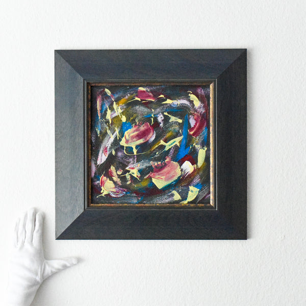 Small abstract painting in situ