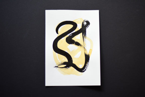 Original abstract ink art for sale online