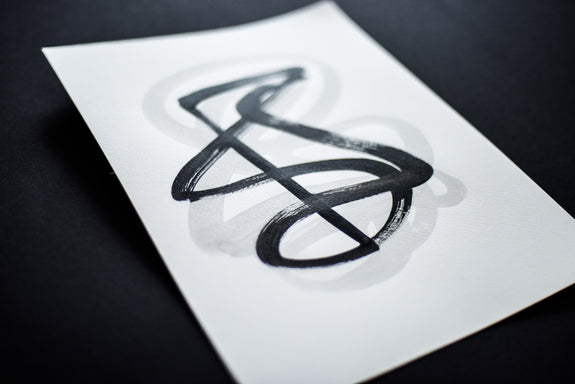 Contemporary abstract calligraphy