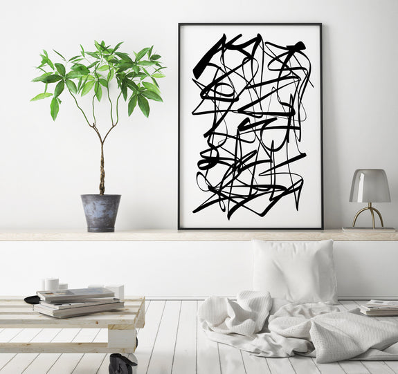 black and white abstract art downlaod