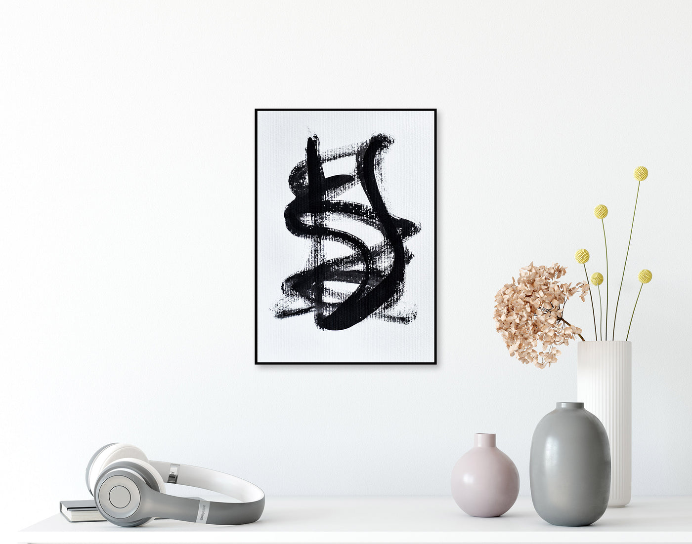 Black and white abstract art for sale online
