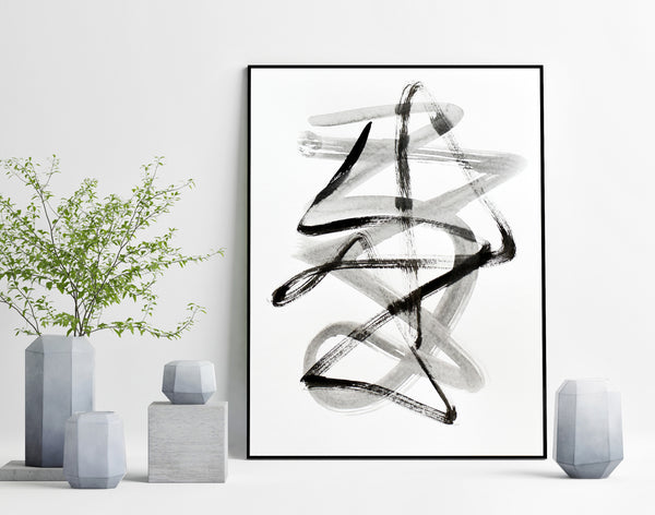 Original black and white wall art