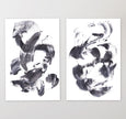 Free printable art - set of two black and white abstract paintings