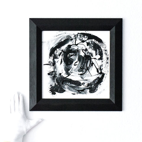 Black and White Abstract No. 3 | Framed Art