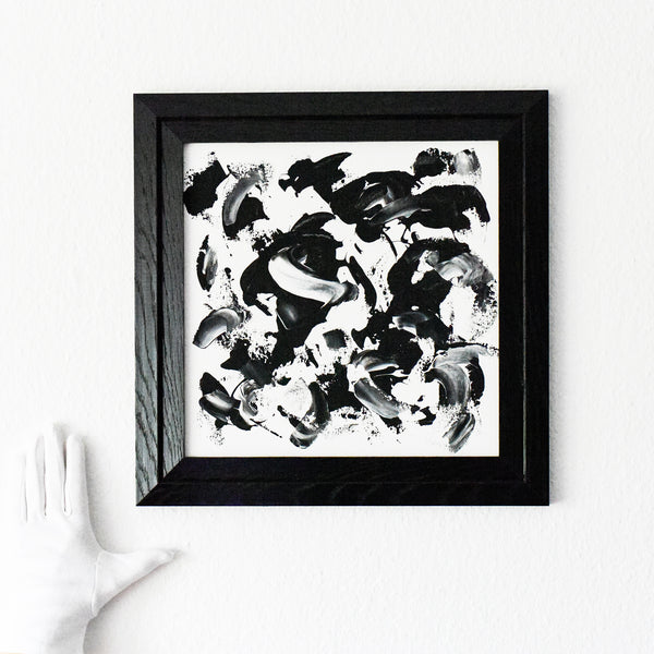 Abstract Expressionism black and white art
