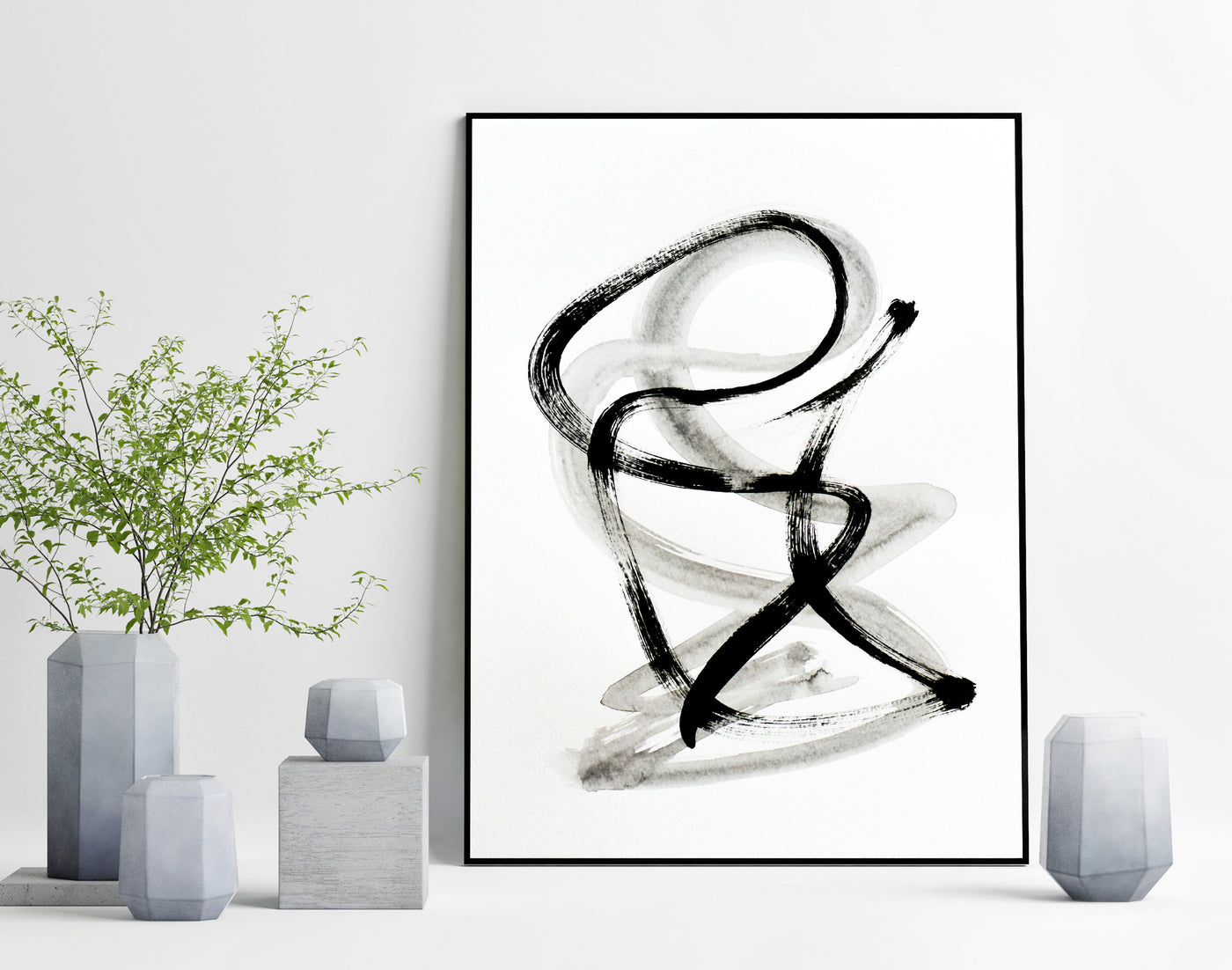 Minimalist art line ink drawing for sale