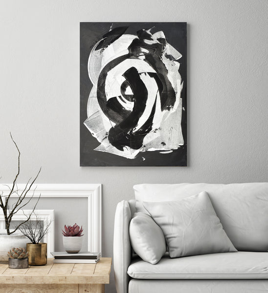 White and Black, 80x60 cm