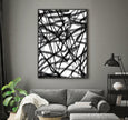 wall printable black and white abstract