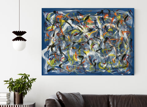 Blue Abstract No 2 | Large Painting