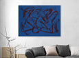 Large blue abstract painting for sale