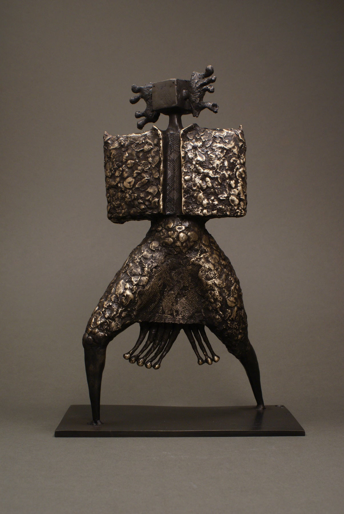 Shaman bronze sculpture for sale
