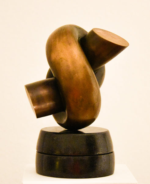 Abstract bronze sculpture art