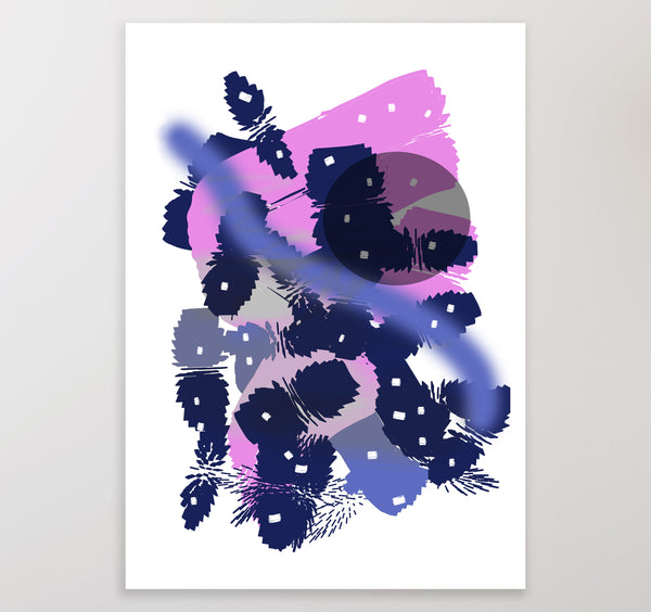 Contemporary printable abstract wall art