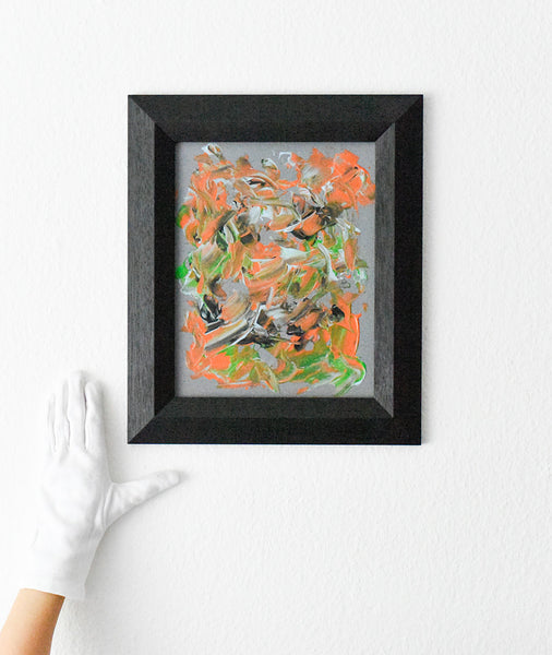 Framed original abstract painting for sale