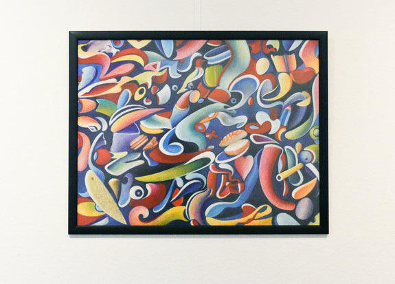 framed abstract art print