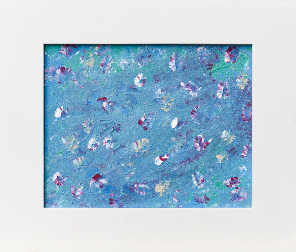 Blue art abstract painting for sale