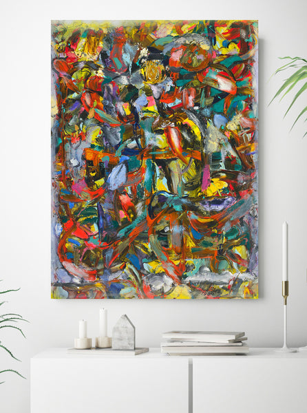 Large abstract art print for sale