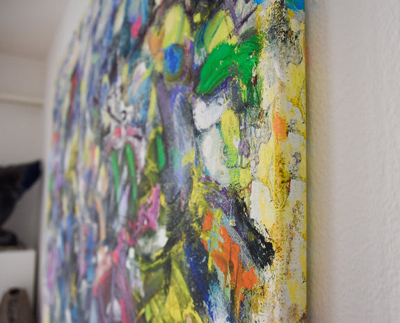 Large abstract art print on canvas