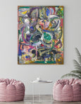 Large abstract art print