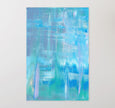 Printable wall art blue abstract painting