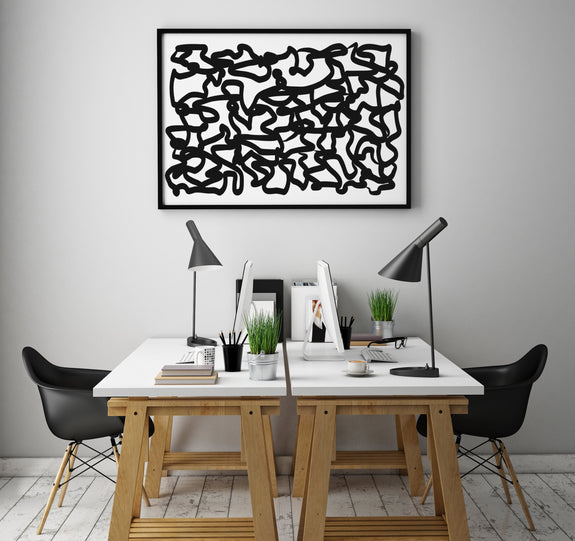 modern art to download, black and white abstract