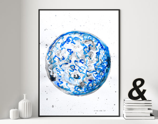 Painting of the moon for sale