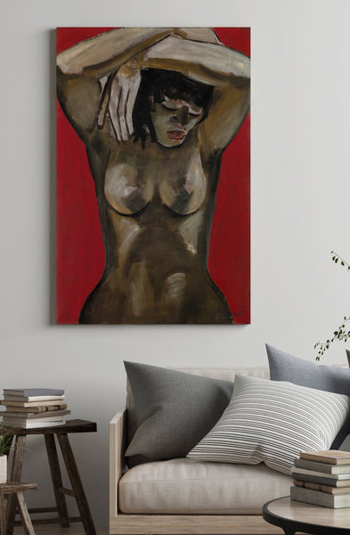 Nude art print on canvas