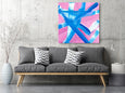 pink printable abstract painting