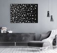 Black and white printable abstract wall art
