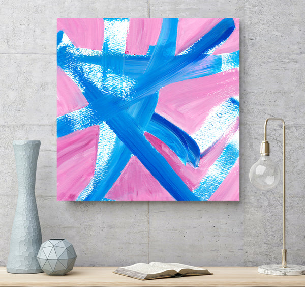 pink and blue wall printable