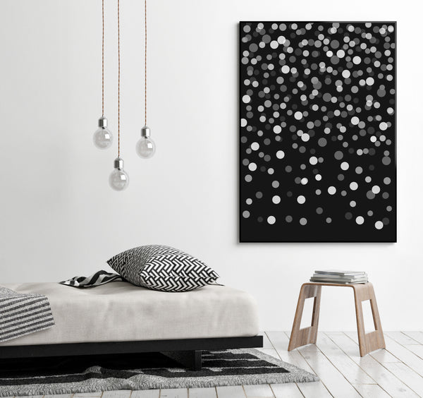 Large black and white printable abstract art