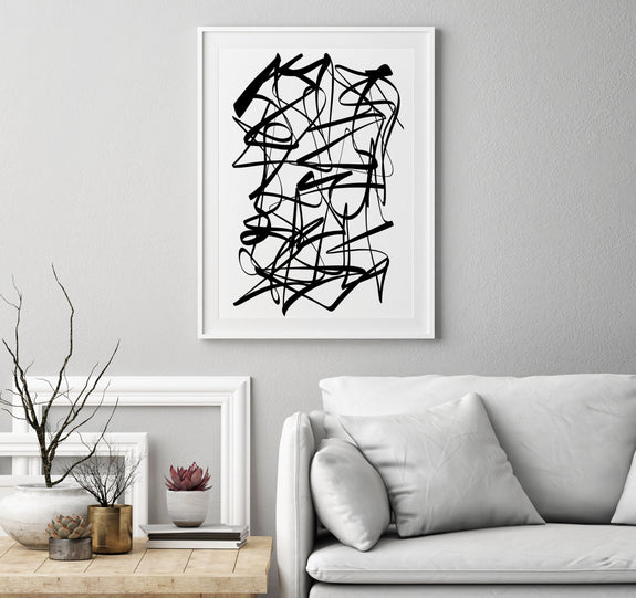 printable black and white abstract artwork