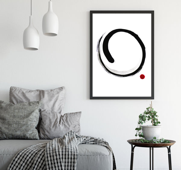 Printable wall art - Enso circle