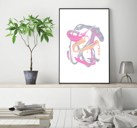 Pink Splash, Printable Art