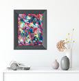 Framed miniature abstract art